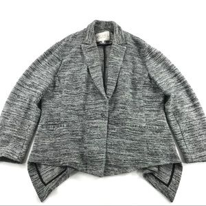 Rachel Roy Textured Stripe Blazer Black White 20W